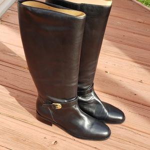 Etienne Aigner Black Leather Boots